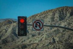 Κόκκινο φως στην έρημο στοκ εικόνες με δικαίωμα ελεύθερης χρήσης