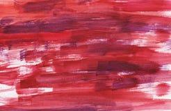 Κόκκινο φωτεινό αφηρημένο υπόβαθρο Watercolor στοκ φωτογραφία με δικαίωμα ελεύθερης χρήσης