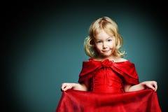 Κόκκινο φόρεμα Στοκ εικόνες με δικαίωμα ελεύθερης χρήσης