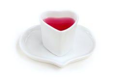 Κόκκινο φλυτζάνι καρδιών Στοκ εικόνα με δικαίωμα ελεύθερης χρήσης