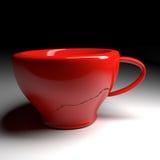 κόκκινο φλυτζανιών καφέ Στοκ Εικόνες