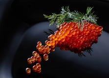 Κόκκινο χαβιάρι με τον άνηθο Στοκ εικόνα με δικαίωμα ελεύθερης χρήσης