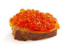 κόκκινο χαβιαριών ψωμιού Στοκ Εικόνα