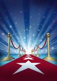 Κόκκινο χαλί στους αστέρες κινηματογράφου Στοκ φωτογραφίες με δικαίωμα ελεύθερης χρήσης