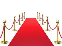 Κόκκινο χαλί Τάπητες προσωπικοτήτων γεγονότος με το εμπόδιο σχοινιών VIP εσωτερικό Διάνυσμα πρεμιέρας κινηματογράφων ακαδημιών Ho απεικόνιση αποθεμάτων