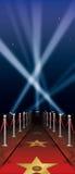 Κόκκινο χαλί Hollywood Στοκ εικόνες με δικαίωμα ελεύθερης χρήσης