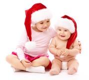 κόκκινο χαμόγελο δύο Χρι&si στοκ φωτογραφία με δικαίωμα ελεύθερης χρήσης