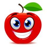 Κόκκινο χαμόγελο μασκότ της Apple ελεύθερη απεικόνιση δικαιώματος