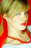 κόκκινο χαντρών Στοκ Φωτογραφίες
