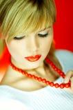 κόκκινο χαντρών Στοκ φωτογραφία με δικαίωμα ελεύθερης χρήσης