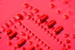 Κόκκινο χαρτόνι κυκλωμάτων Στοκ Φωτογραφίες
