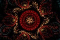 Κόκκινο χαλί με τα σχέδια Στοκ Φωτογραφίες
