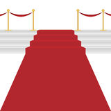 Κόκκινο χαλί διανυσματική απεικόνιση