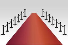 Κόκκινο χαλί Στοκ εικόνες με δικαίωμα ελεύθερης χρήσης