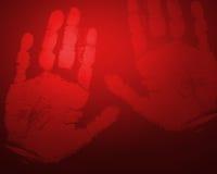 κόκκινο χεριών Στοκ Εικόνες