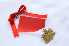 κόκκινο χιόνι καρτών Στοκ Εικόνες