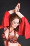 κόκκινο χορευτών κοιλιών Στοκ Εικόνες