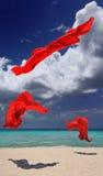 κόκκινο χορού υφασμάτων Στοκ φωτογραφίες με δικαίωμα ελεύθερης χρήσης