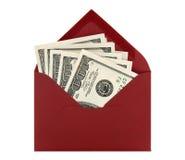 κόκκινο χρημάτων φακέλων Στοκ Εικόνες