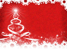 κόκκινο Χριστουγέννων ανασκόπησης νέο έτος ανασκόπησης Στοκ Φωτογραφία