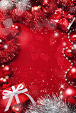 κόκκινο Χριστουγέννων ανασκόπησης Στοκ Φωτογραφία
