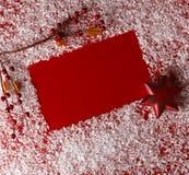 κόκκινο Χριστουγέννων αν&al Στοκ Εικόνα