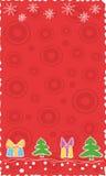 κόκκινο Χριστουγέννων εμ& Στοκ φωτογραφία με δικαίωμα ελεύθερης χρήσης