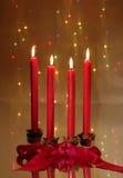 κόκκινο Χριστουγέννων κεριών Στοκ Φωτογραφία