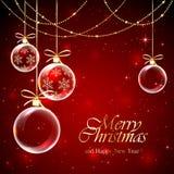 κόκκινο Χριστουγέννων μπι Στοκ Φωτογραφίες