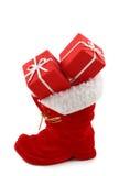 κόκκινο Χριστουγέννων μποτών Στοκ φωτογραφία με δικαίωμα ελεύθερης χρήσης