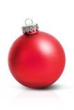 κόκκινο Χριστουγέννων σφαιρών Στοκ Εικόνα