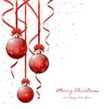 κόκκινο Χριστουγέννων σφαιρών Στοκ εικόνα με δικαίωμα ελεύθερης χρήσης