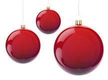 κόκκινο Χριστουγέννων σφ&a Διανυσματική απεικόνιση