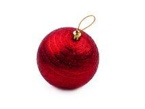 κόκκινο Χριστουγέννων σφ&a Στοκ Εικόνα