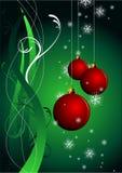 κόκκινο Χριστουγέννων σφ&a απεικόνιση αποθεμάτων