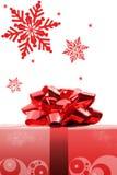 κόκκινο Χριστουγέννων τόξων Στοκ φωτογραφίες με δικαίωμα ελεύθερης χρήσης