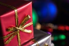 κόκκινο χριστουγεννιάτικου δώρου στοκ εικόνα