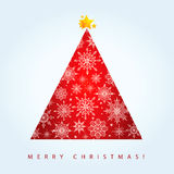 Κόκκινο χριστουγεννιάτικο δέντρο Στοκ φωτογραφίες με δικαίωμα ελεύθερης χρήσης