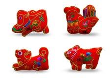 Κόκκινο χρώμα δώδεκα zodiacs SE 4 απεικόνιση αποθεμάτων