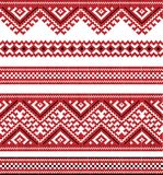Κόκκινο χρώμα που κεντιέται καλό όπως χειροποίητο Στοκ Εικόνα