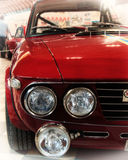 Κόκκινο χρώμα της Lancia Fulvia HF Στοκ εικόνες με δικαίωμα ελεύθερης χρήσης