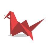 Κόκκινο χτυπώντας πουλί origami διανυσματική απεικόνιση