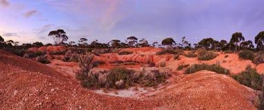 Κόκκινο χώμα 2 WA Balladonia πανόραμα Στοκ φωτογραφίες με δικαίωμα ελεύθερης χρήσης