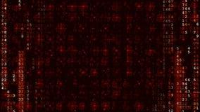 Κόκκινο ψηφιακό φουτουριστικό υπόβαθρο υψηλής τεχνολογίας απόθεμα βίντεο