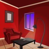 κόκκινο δωμάτιο Στοκ φωτογραφίες με δικαίωμα ελεύθερης χρήσης
