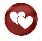 Κόκκινο δύο καρδιών Στοκ εικόνες με δικαίωμα ελεύθερης χρήσης