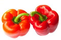 κόκκινο δύο πιπεριών Στοκ Φωτογραφία