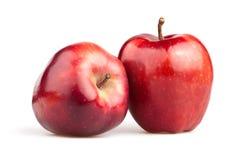 Κόκκινο δύο της Apple Στοκ εικόνες με δικαίωμα ελεύθερης χρήσης