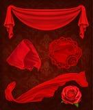 Κόκκινο ύφασμα, διανυσματική απεικόνιση Στοκ φωτογραφία με δικαίωμα ελεύθερης χρήσης