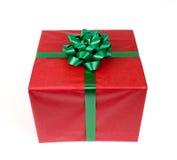 Κόκκινο δώρο Στοκ φωτογραφία με δικαίωμα ελεύθερης χρήσης